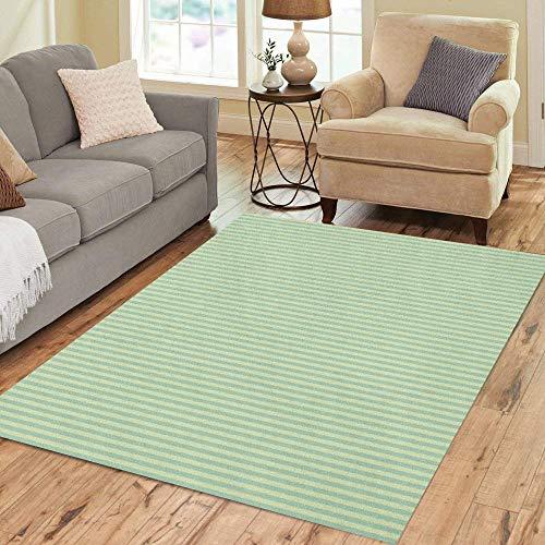 Stripes Green Simple - Pinbeam Area Rug Teal Pattern Pale Green Stripes Neutral Simple Vintage Home Decor Floor Rug 5' x 7' Carpet
