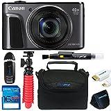 Canon Powershot SX720 (Black) + 12 Tripod + 16GB Memory Card + Pixi-Basic Accessory Bundle