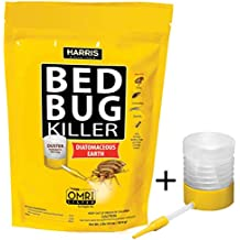 Harris Bed Bug Killer, Diatomaceous Earth Powder, Fast Kill with Extended Residual Protection (64oz w/Duster)