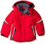 London Fog Boys' Little Active Puffer Jacket Winter Coat, Super red 4