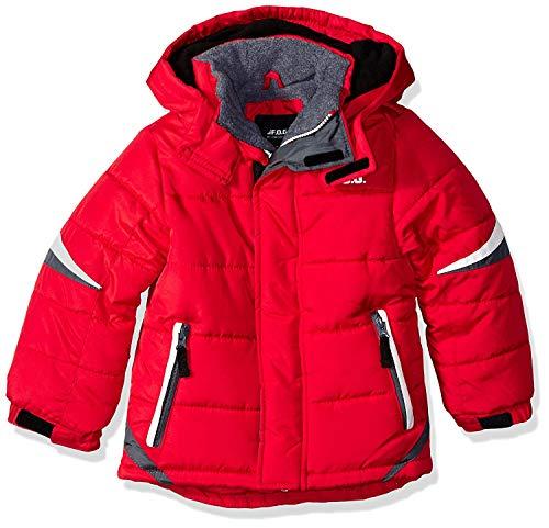 London Fog Boys' Little' Active Puffer Jacket Winter Coat, Super red, 4
