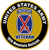 1 Set Grand Fashionable US Army Veteran 10th Mountain Division Sticker Sign Outdoor Proudly Home Size 12