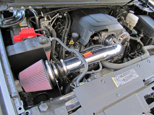 K/&N 77-3070KP Performance Air Intake System with Red Air Filter Wrap