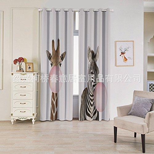 Unimall Cortina Translucida (2 Unidades X 1.32m de anchura X 2.15 m de altura) para salón, habitación y dormitorio, Material Poliester