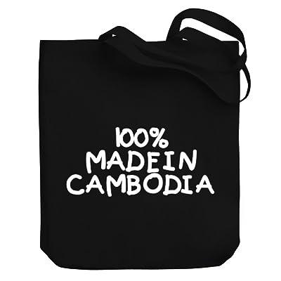 Teeburon 100 MADE IN Cambodia Canvas Tote Bag