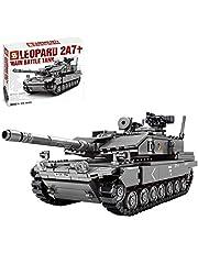 ColiCor Technic tankbyggnadsmodellkit, 898 st tysk leopard 2A7 militärtank konstruktionsset, tankmodellsats för barn och vuxna, byggblock kompatibel med Lego