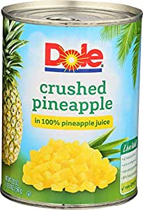Dole Crushed Pineapple in 100% Pineapple Juice 20 oz. (Pack of 3)