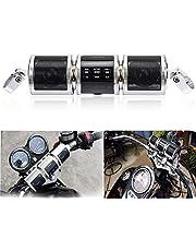 PSLER Waterproof Bluetooth Wireless Motorcycle Scooter Bike ATV Jet Ski Stereo Sound System Radio Handlebar Mount FM Radio MP3 Player (Silver)