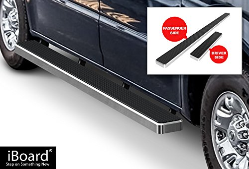 APS iBoard Running Boards (Nerf Bars | Side Steps | Step Bars) for 2012-2019 Nissan NV 1500/2500/3500 Full Size Van | (Silver Powder Coated 5 inches)