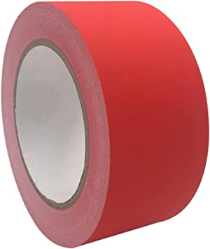 RED GAFFERS STAGE TAPE 2 INCH X 60 YARDS
