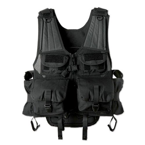 7702817 Uncle Mikes, Load Bearing Launcher Vest, black, 72'' by Uncle Mike's