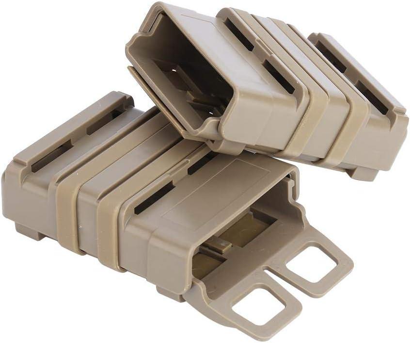 Tbest 3 Couleurs ABS Rapide Mag Pouch Set Magazine Poche Syst/ème de Molle pour 5.56 Mags