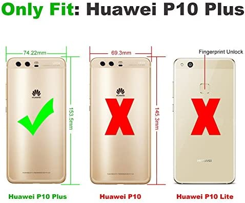 Funda con Cuerda para Huawei P10 Plus, Carcasa Transparente TPU ...
