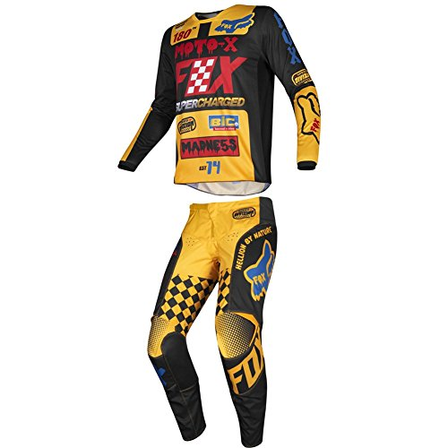 - Fox Racing 2019 YOUTH 180 CZAR Jersey and Pants Combo Offroad Riding Gear Black/Yellow Medium Jersey/Pants 24W