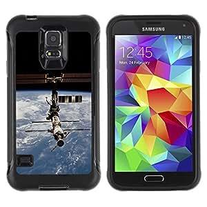 LASTONE PHONE CASE / Suave Silicona Caso Carcasa de Caucho Funda para Samsung Galaxy S5 SM-G900 / Iss Space Station
