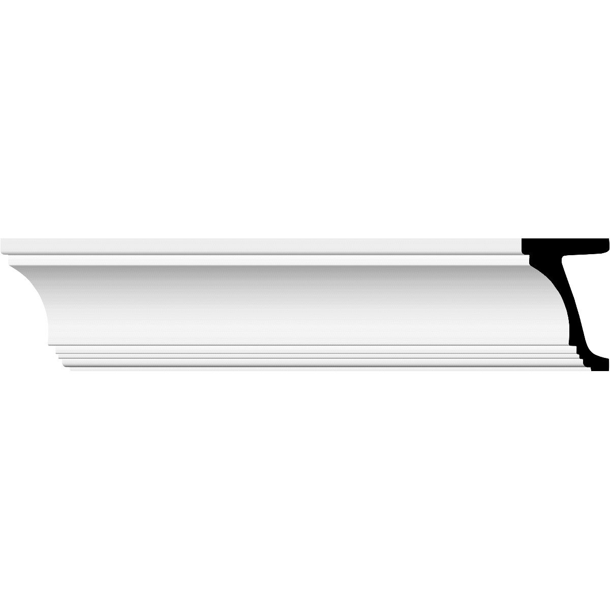 Ekena Millwork MLD10X06ST 9 5/8''H x 6 1/8''P x 94 1/2''L Standard Moulding