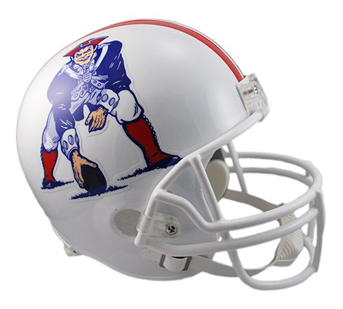 New England Patriots 1982-1989 Throwback Riddell Full Size Deluxe Replica Football Helmet - New in Riddell Box