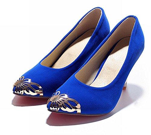 Latasa Femmes Mode Papillon Pointu Orteil Robe À Talons Hauts Pompes Bleu Royal