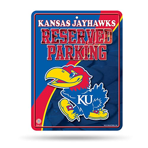 - NCAA Kansas Jayhawks 8-Inch by 11-Inch Metal Parking Sign Décor