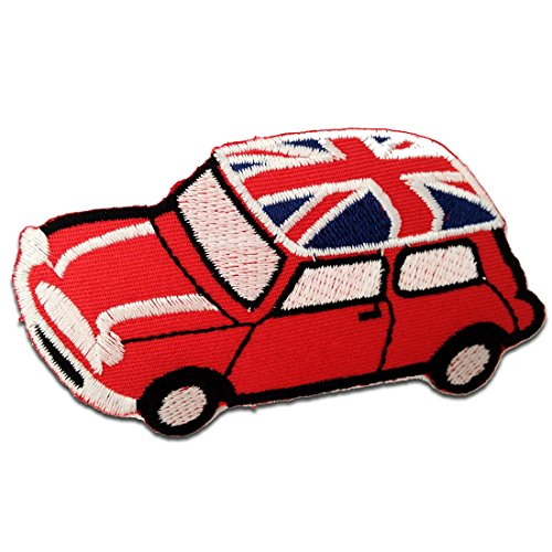 ni Cooper UK - red - 7,5x5,3cm - by catch-the-patch Application Embroided patch badges (Badge Patch Mini)