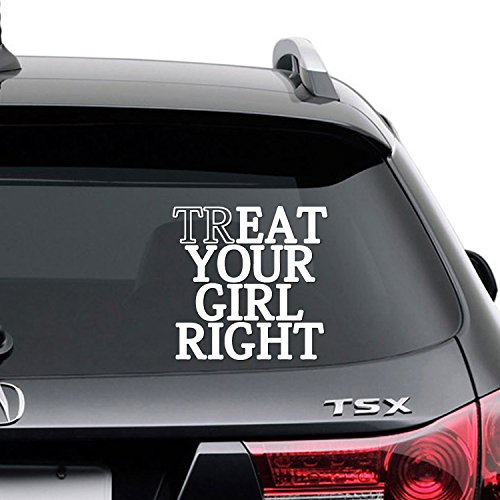 TG-01 Treat Your Girl Right Oral Sex Vinyl Decal Sticker