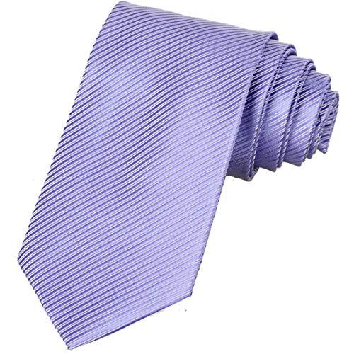 (KissTies Mens Lavender Tie Striped Iris Necktie + Gift)