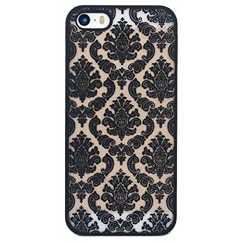 Arktis iPhone 5 5s SE Damask Vintage Case - Schwarz