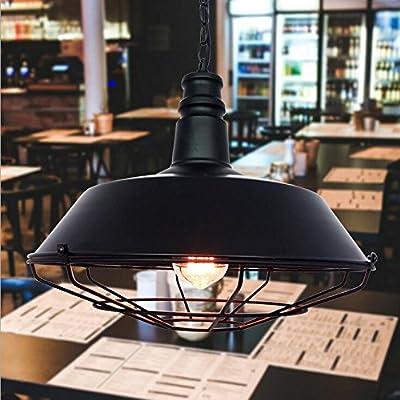 NabothT Loft American retro pot eólica industrial cubrir la tapa de la lámpara candelabro Nordic bar bar restaurante personalidad creativa lámpara de hierro: Amazon.es: Iluminación