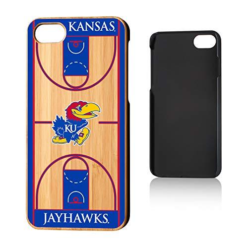 Keyscaper KBAMI7-00KS-TBCRT1 Kansas Jayhawks iPhone 8/7 Bamboo Case with KU Basketball Court Design, Wood