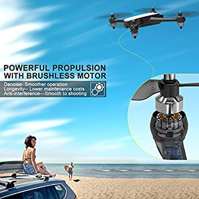 GPS Drone with Camera,Live Video 1080P HD FPV, RC Quadcopter with 110° FOV Potensic D60 Wide-Angle 5G WiFi Follow Me,Altitude Hold,Long Control Range, GPS Return Home, Brushless Motor (White)