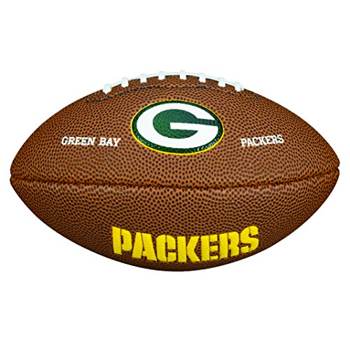 Wilson WTF1533IDGB NFL Team Logo Mini Size Football - Green Bay (Wilson Green Bay Packers Official Football)