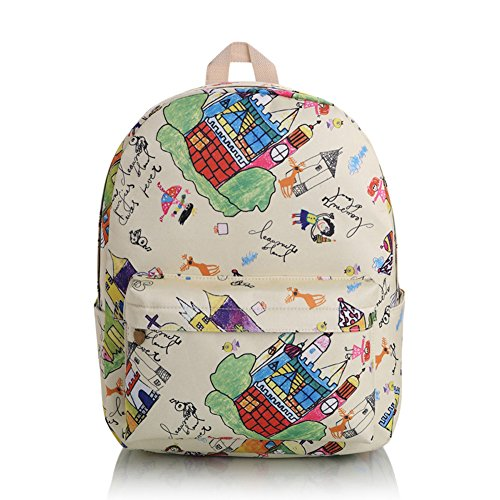 Gazigo Dots Backpack Preppy Bookbags School Bags for Teenage Girls and (Preppy Dots)