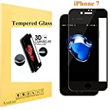iPhone 7 Screen Protector, empered Glass Asstar 3D [Full Coverage] 2.5D Round Edge