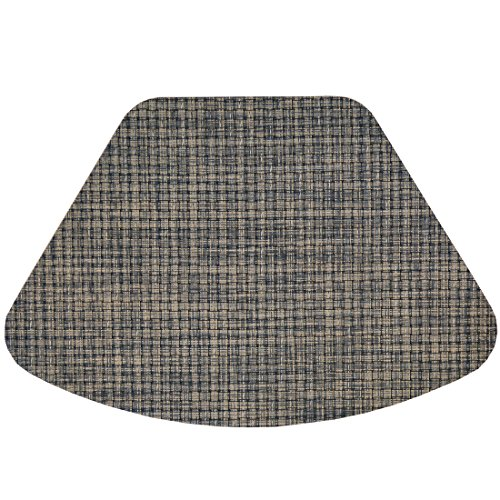 Set of 2 - Black, Gray and Tan Wipe Clean Wedge-Shaped Placemat for Round Tables