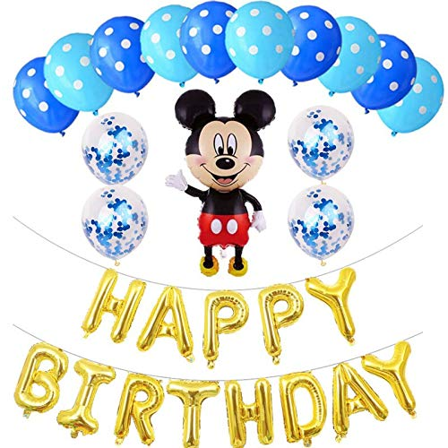 LIUUWO Balloon Primer cumpleaños niño niña Fiesta Mickey ...