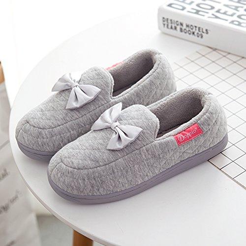 caoutchouc Padded nbsp;Mesdames chaussons Gris en moelleux d'Cotton femelle agréable de Parole Accueil LaxBa Semelle Chaussures 1gxBRx