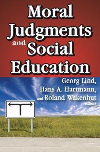Moral Judgments and Social Education pdf
