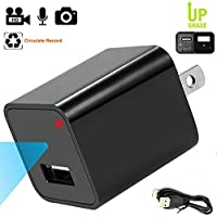 Mini USB Hidden Camera, 1080P AC Wall Plug Adapter Nanny Spy Camera For Home Protection With External Memory Can Be Easily Replaced and Upgraded Up To 32GB For Home Security , Latest Updated  Model.
