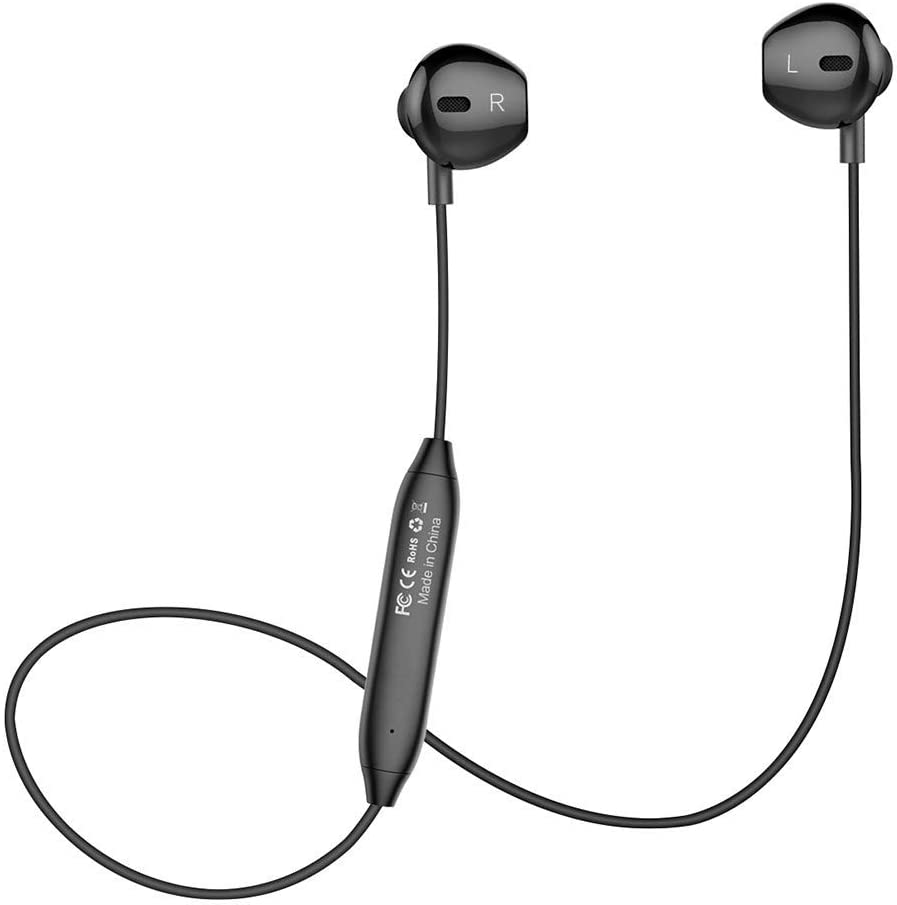 Amazon Com Bluetooth Headset Wireless Earbuds V4 1 Stereo Noise Canceling Sport Magnetic Headphones Earpieces With Built In Mic Compatible Samsung Galaxy S9 S8 S7 Iphone X 8 8 Plus 7 7 Plus And More Black Home Audio Theater