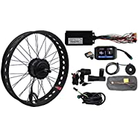 "HalloMotor BAFANG 48V 750W Freehub Fat Tire Cassette Rear Wheel 190mm Ebike Conversion 20"" 24"" 26"" Kits with 750C Color Display for fatbike"