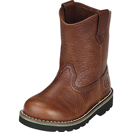 John Deere Boy's Kids' Wellington Cowboy Boot Toddler Brown