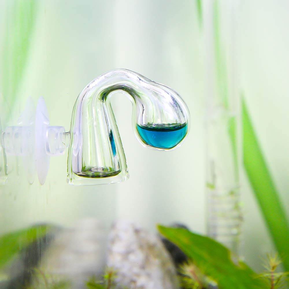 SENZEAL CO2 Drop Checker Glass Monitor Aquarium para Tanque de Peces Plantados