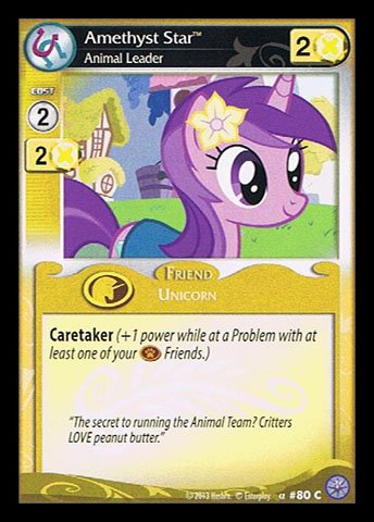 My Little Pony CCG - Amethyst Star, Animal Leader (80) - Premiere Edition B00I0D6OU4