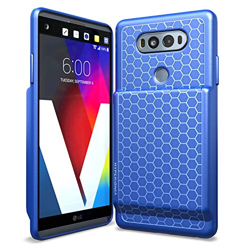 Hyperion LG V20 Extended Battery Case with Honeycomb TPU Design and Active Shock Absorption (Blue)
