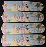 Ceiling Fan Designers 42SET-DIS-PPE Disney Princesses- Castle 42 in. Ceiling Fan Blades Only