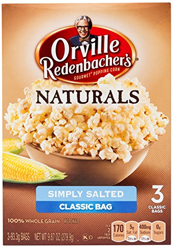 s Naturals Simply Salted Popcorn, 3.29 Ounce Classic Bag, 3-Count (Orville Redenbacher Oil)