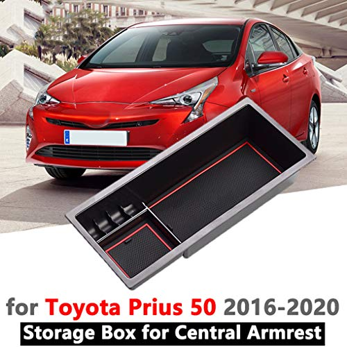 YEE PIN RAV4 center console storage box console accessory for Toyot a RAV 4 glove compartment armrest organiser tray with non-slip mat