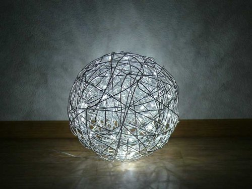 Drahtkugel Bodenleuchte O 30 Cm Ip44 Led 6300 K Wireball Out