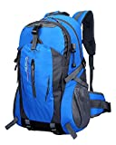 TanXianZhe Waterproof 40L Outdoor Sports Mountaineer Hiking Trekking Cycle Camping Rucksack Backpack Bag (Blue)