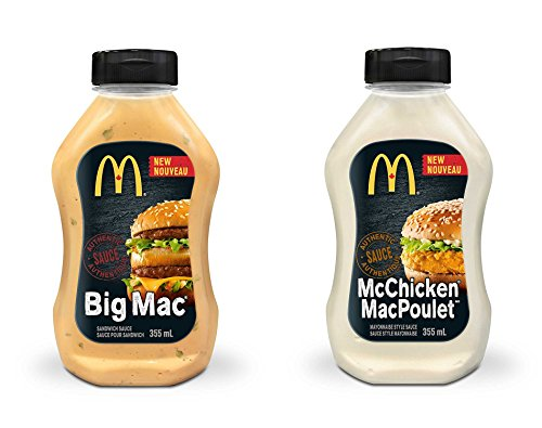 Mcdonald's Sauce - 2 pack ( 355ml/12.00 Ounces each) {Imported from Canada} (Big Mac/Mc Chicken)